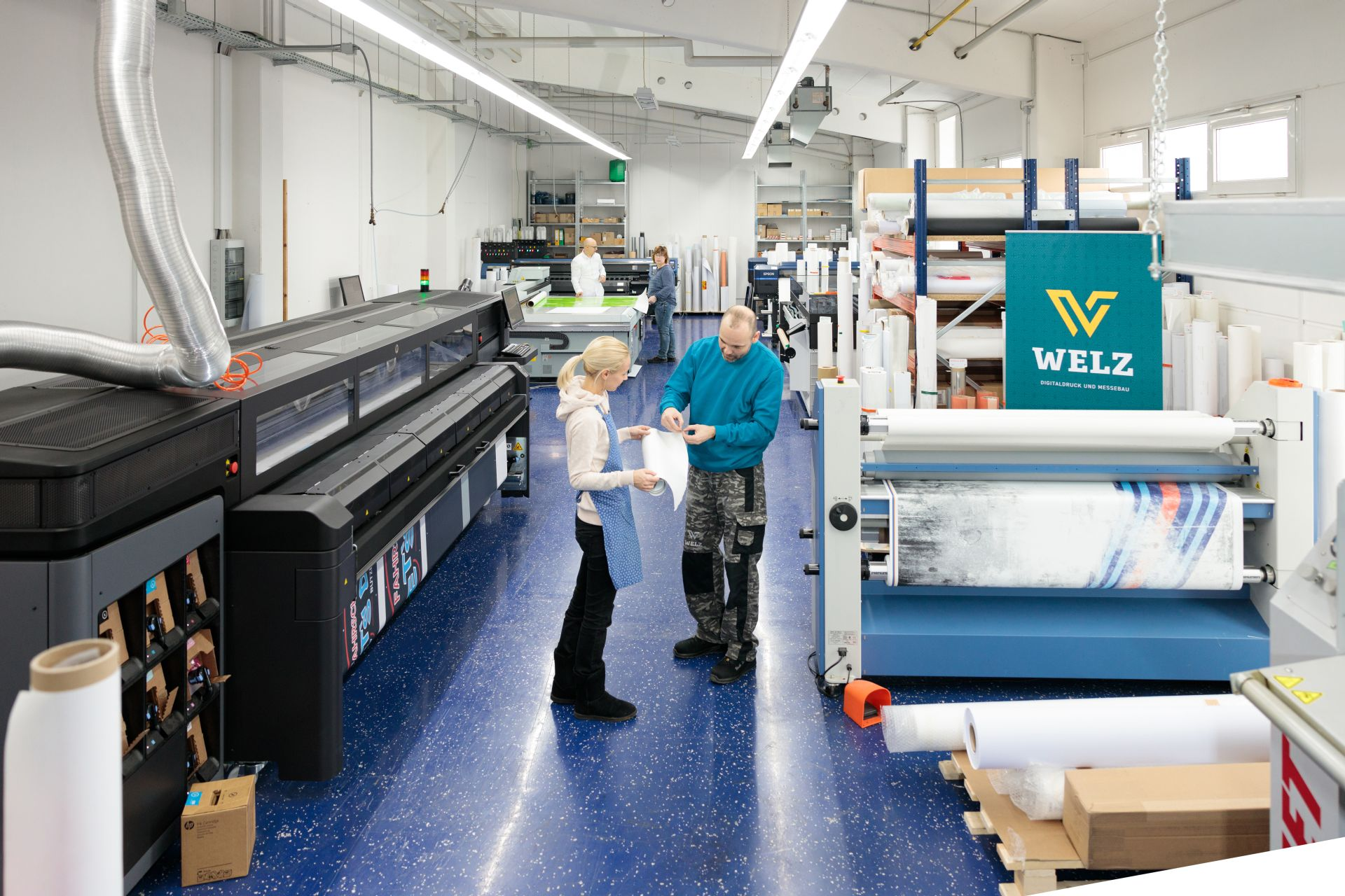 Drucksaal, Druckhalle bei WELZ Digitaldruck